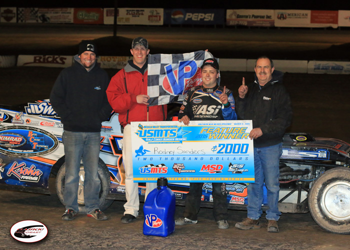 Sanders collects USMTS checkers in Winter Meltdown opener